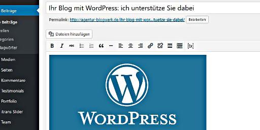 WordPress - Die Redaktionsumgebung
