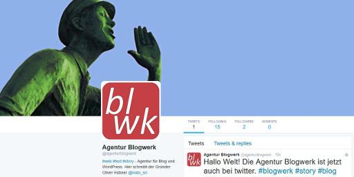 Twitteraccount der Agentur Blogwerk