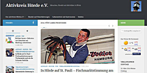 Screenshot Blog des Aktivkreis Hörde e.V.