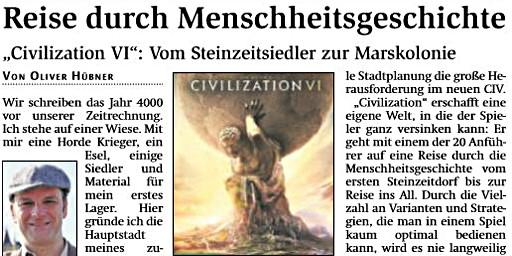 Spielecheck Civilisation VI