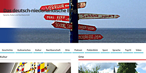 Screenshot: Blog speciaal, Deutsch-Niederlandisches Blog