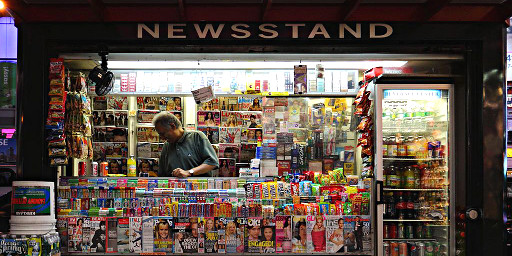 Newsstand in New York - Foto by Andrew A Smith