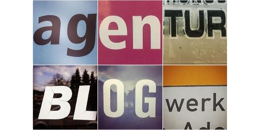 Agentur Blogwerk - Buchstabenmosaik