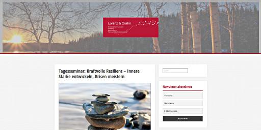Screenshot: Blog der Kommunikationscoaches Lorenz und Grahn