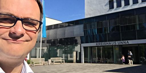 Oliver Hübner auf dem Weg zur Gründerberatung in Unna