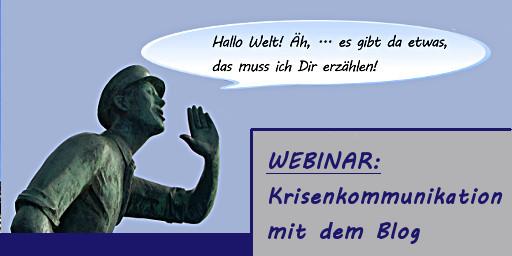 Webinar Krisenkommunikation