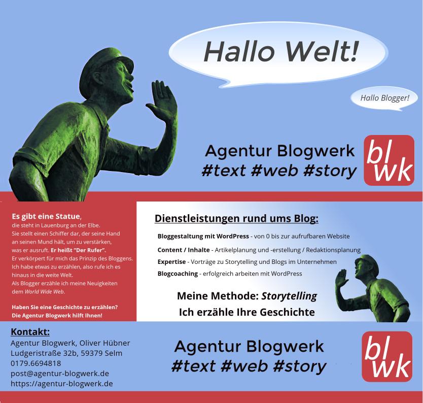 Flyer Agentur Blogwerk